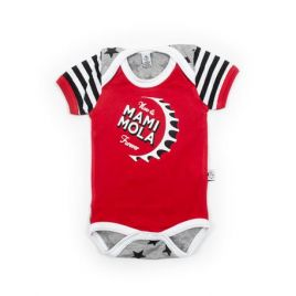 Body bebé MAMI rojo estrellas mc