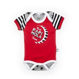 Body bebé PAPI MOLA rojo estrellas mc
