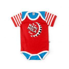 Body bebé MAMI MOLA rojo azul