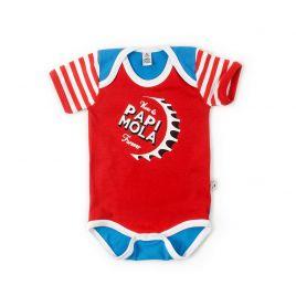 Body bebé PAPI MOLA rojo azul