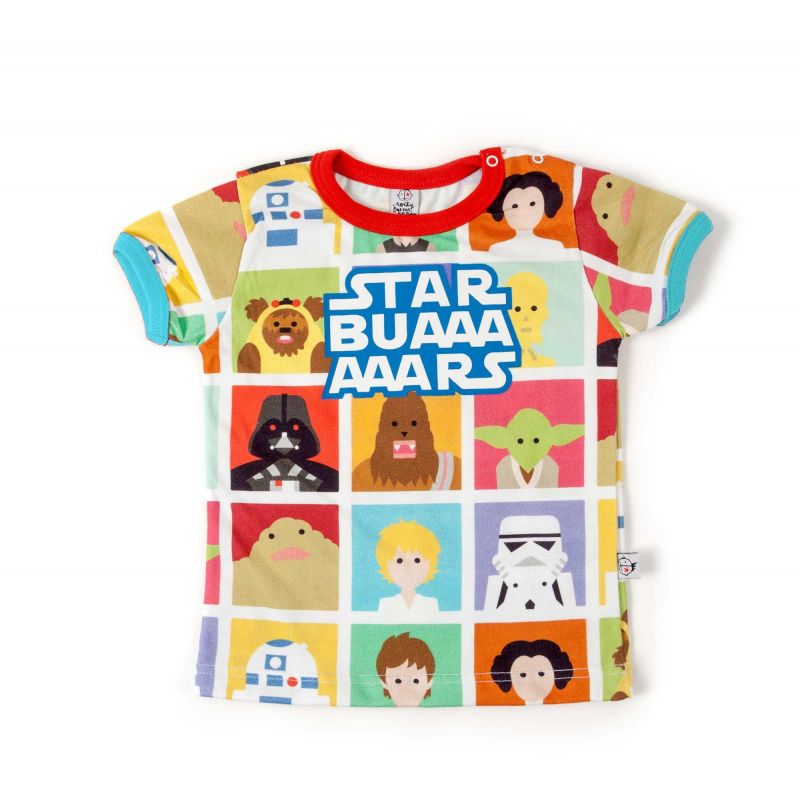 camiseta star wars manga corta