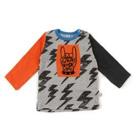 Camiseta FUTURE dedos naranja