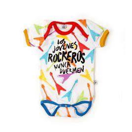 Body bebé LOS JÓVENES ROCKEROS guitarras mc