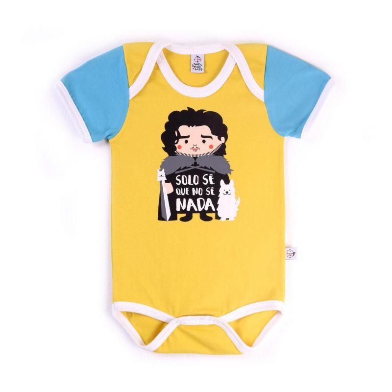 Body bebé unisex JON NIEVE manga corta