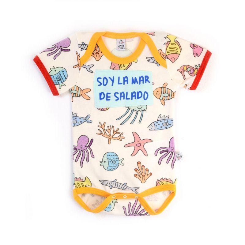 Body bebé niño manga corta SALADO