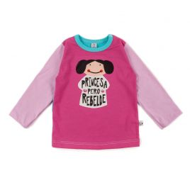 Camiseta bebé niña LEIA manga larga