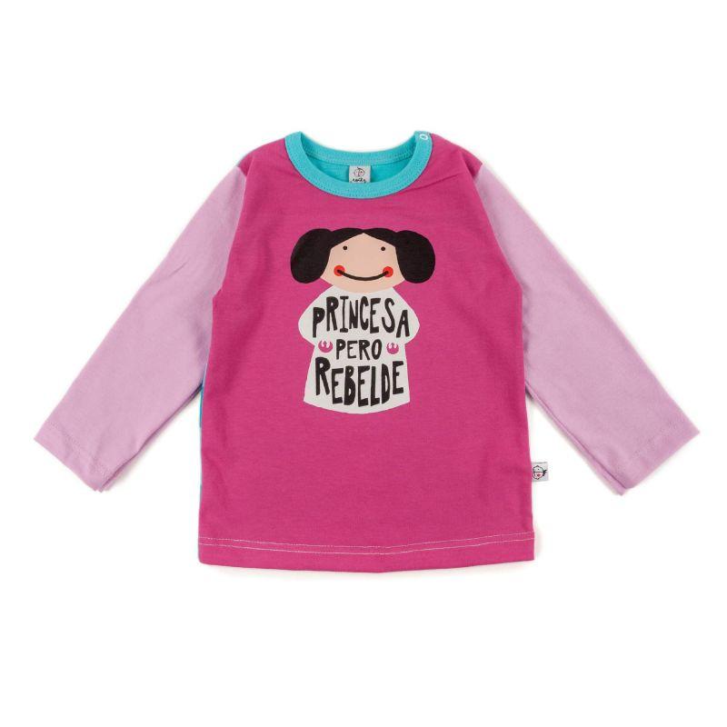 Camiseta bebe niña LEIA manga larga