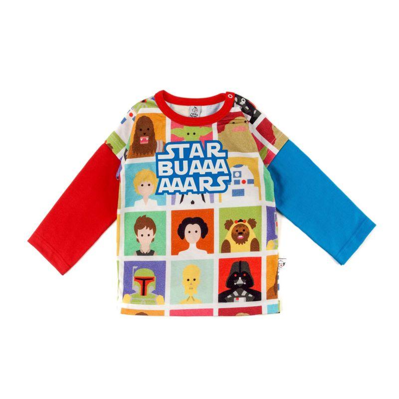 Camiseta bebe STAR BUARS manga larga