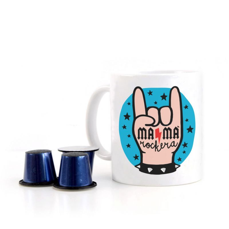 Taza divertida MAMA ROCKERA