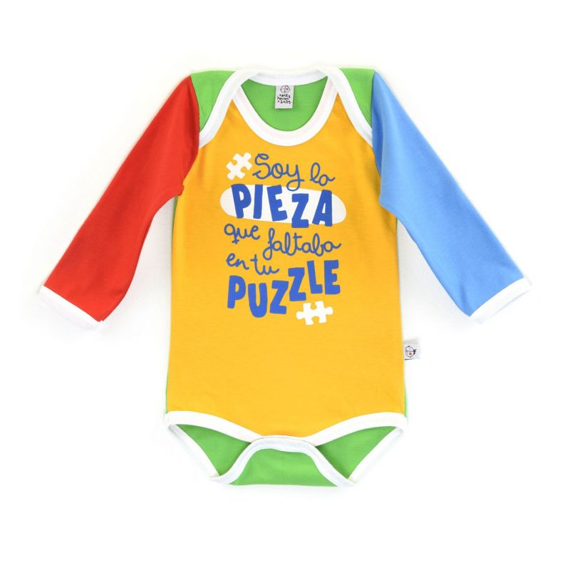 Body bebe PUZZLE manga larga