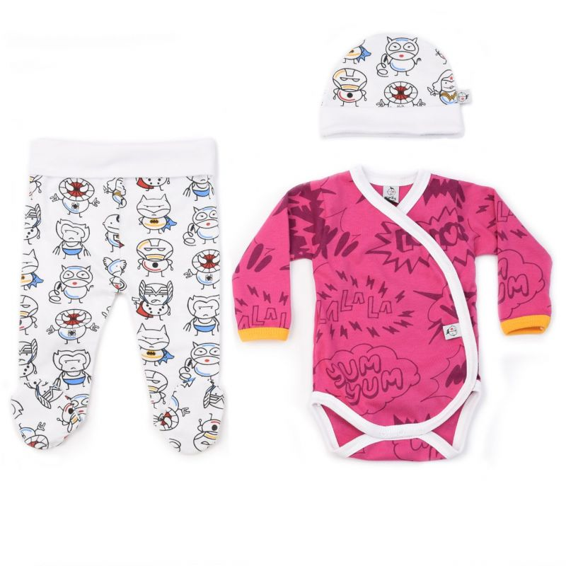Conjunto ropa primera puesta niña superheroes