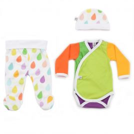 Conjunto ropa primera puesta bebé GOTAS