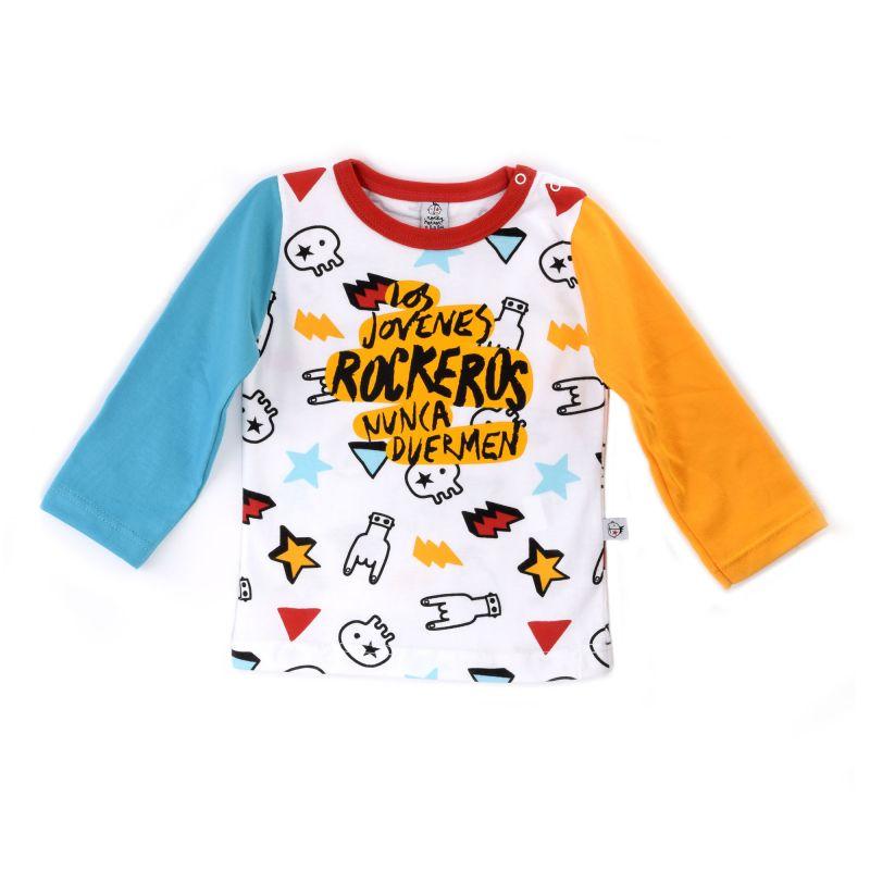 Camiseta bebé ROCKEROS dedos manga larga