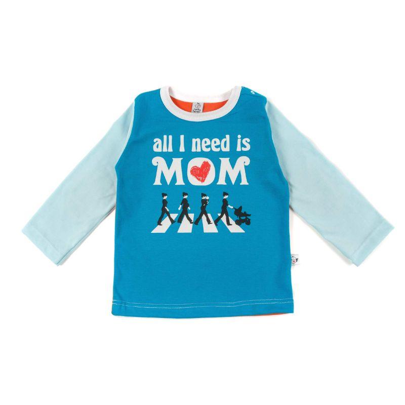 Camiseta bebé BEATLES ml turquesa