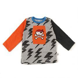 Camiseta bebé unisex PIRATILLA naranja