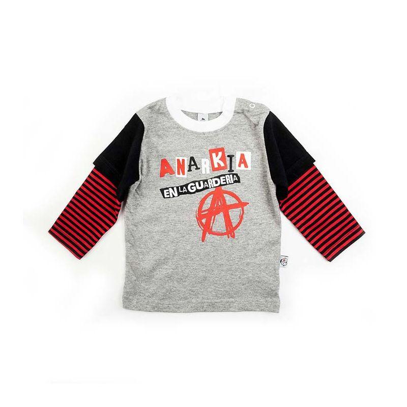 Camiseta ANARKIA ml gris