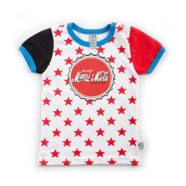 camiseta bebé MAMI estrellas rojas uud