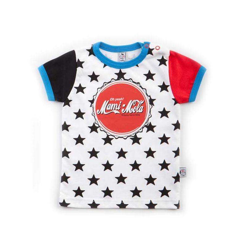 camiseta bebé MAMI estrellas negras