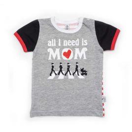 Camiseta BEATLES gris mc negro