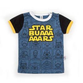 Camiseta STARBUARS mc vigoré y negro uud