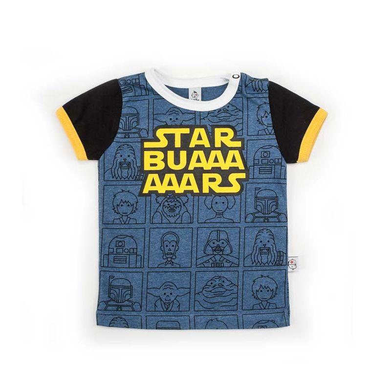 Camiseta STAR BUARS vigoré y negro mc