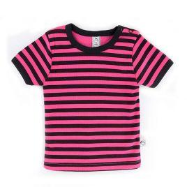 camiseta mc básica rayas rosa uud