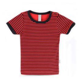 camiseta mc básica rayas rojo uud