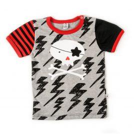 Camiseta bebé CALAVERA mc rojo