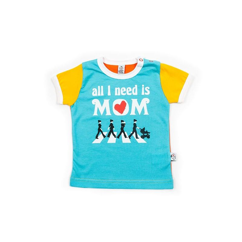 Camiseta bebe BEATLES turquesa mc