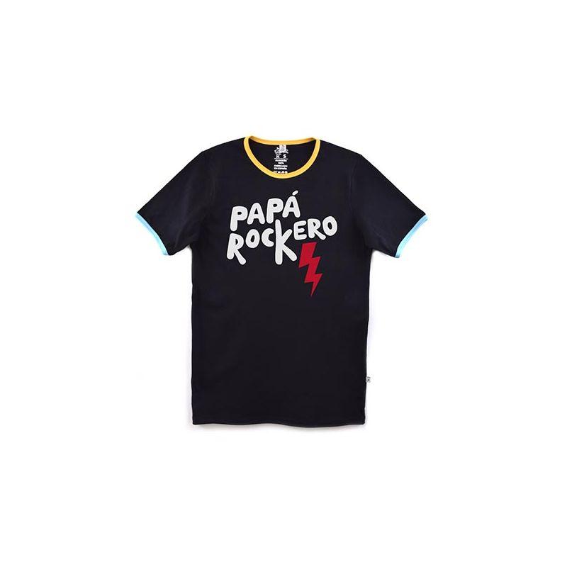 Camiseta mensaje PAPÁ ROCKERO adulto