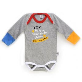 Body bebé CUARENTENA gris ml
