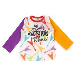 Camiseta bebé LOS JÓVENES ROCKEROS guitarras ml