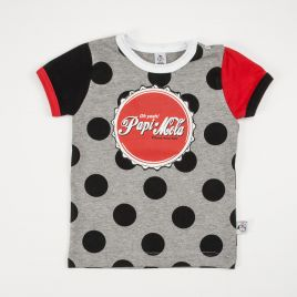 Camiseta bebé manga corta PAPI MOLA lunares