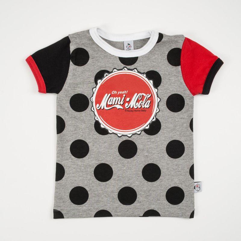 Camiseta bebé MAMI MOLA lunares mc