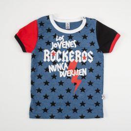 Camiseta bebé ROCKEROS estrellas mangas bicolor