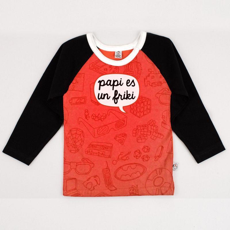 Camiseta bebé FRIKI coral ml