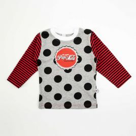 Camiseta bebé manga larga PAPI MOLA lunares